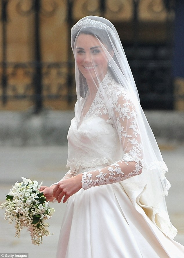 The Duchess of Cambridge's Alexander McQueen gown cost almost half of the rumoured prince of Meghan's at £250,000