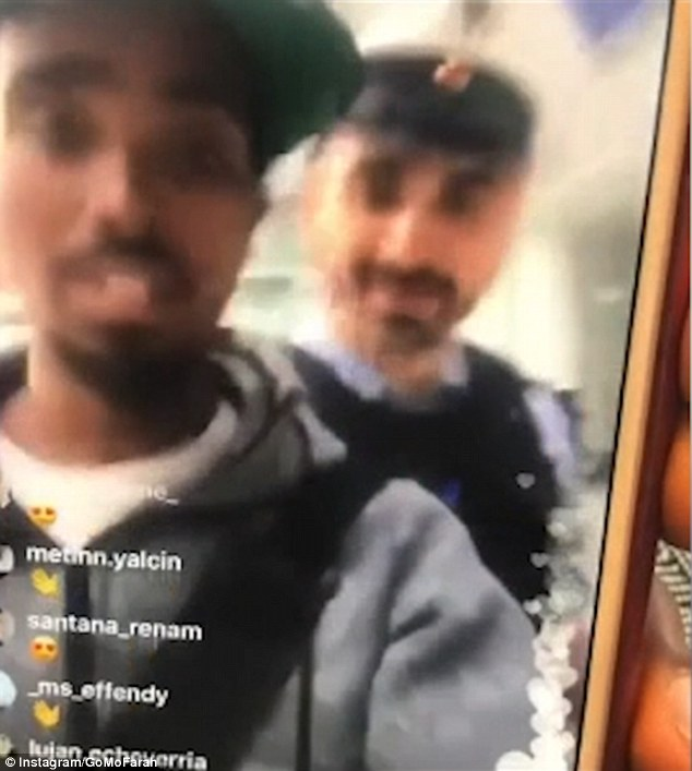 Sir Mo Farah has filmed an unpleasant encounter with security guards at Munich Airport in Germany in which he was allegedly'racially harassed'