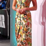 Alicia Vikander Stuns in Floral gown at the 'Tomb Raider' premiere in London