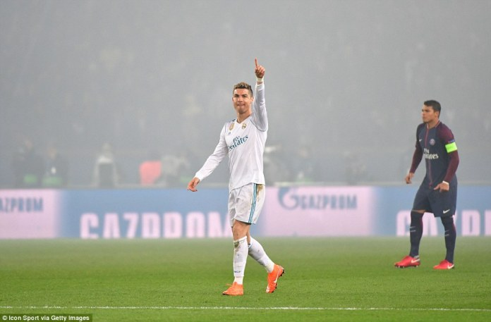 Cristiano Ronaldo scored as Real Madrid beat Paris Saint-Germain 2-1 on Tuesday to complete a 5-2 aggregate victory