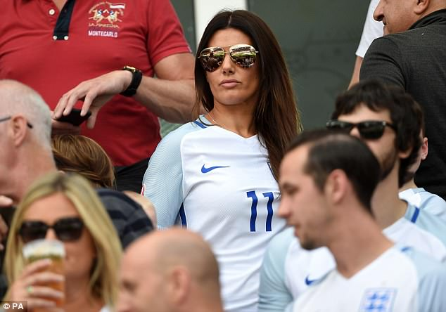 Jamie Vardy's wife, Rebekah, was in the crowd at the 2016 European Championships in France