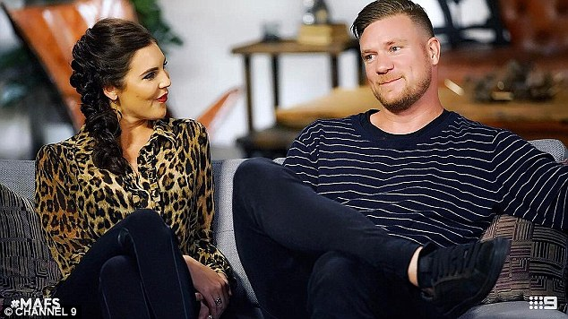 Controversial: This week on MAFS, Dean sparked outrage after 'offering up' his wife (left) for the other grooms to 'bang' during the boys' night