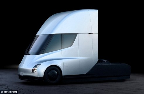 The Tesla Semi is said to be capable of traveling 500 miles on a charge when moving at highway speed with its maximum weight load, 80,000 pounds. Diesel trucks, on the other hand, can go about 1,000 miles on a tank of fuel