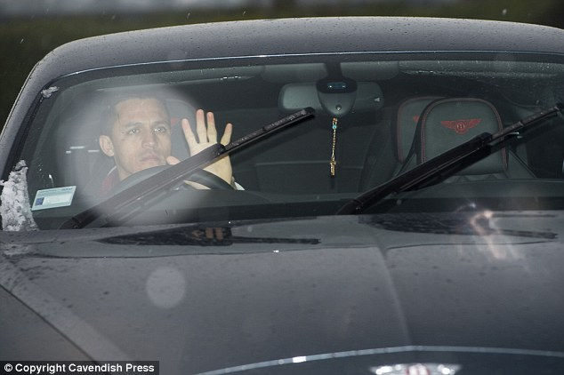 Alexis Sanchez turned up at the training ground in his black Bentley on Thursday morning