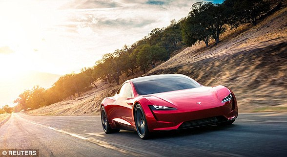 The electric supercar market has risen considerably in recent years, with several companies - including many small startups - competing to build the fastest. Shown is Tesla & # 39; s next generation Roadster, which will be released in 2020