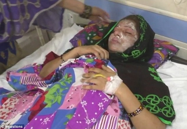 Image result for Husband pours acid on wife in nigeria