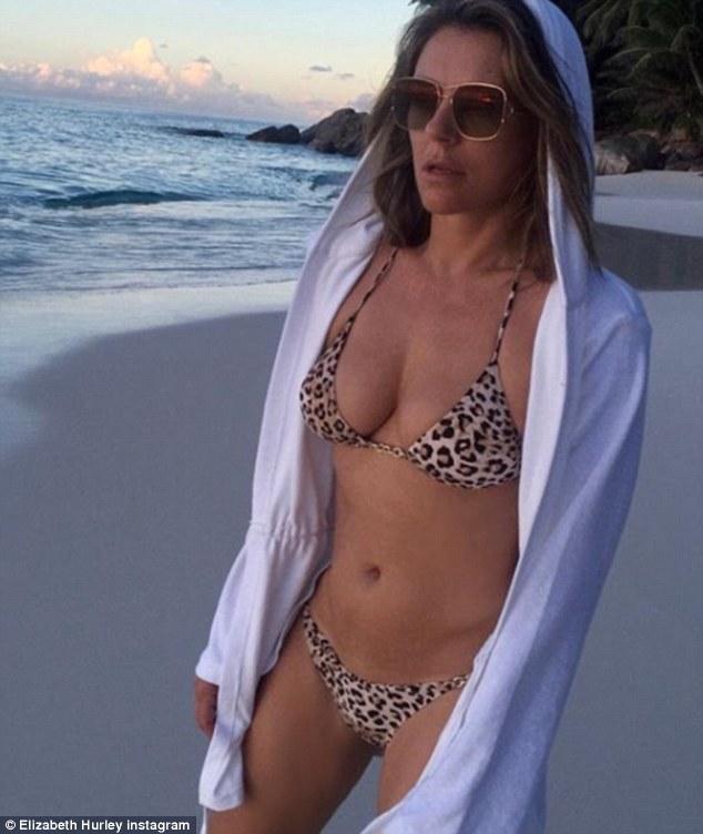 Elizabeth Hurley Defends Son Damien For Taking Her Bikini