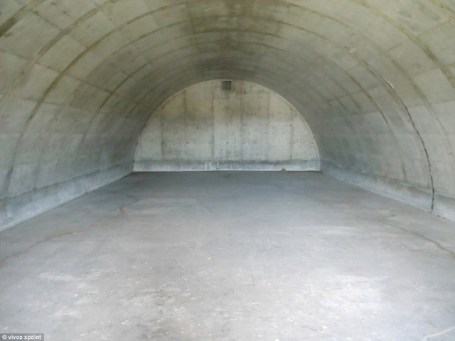 The bunkers (pictured, prior to development) are built with super reinforced concrete and steel walls and doors just in case the bombs they stored blew up. The company bought the old military space in South Dakota in 2016