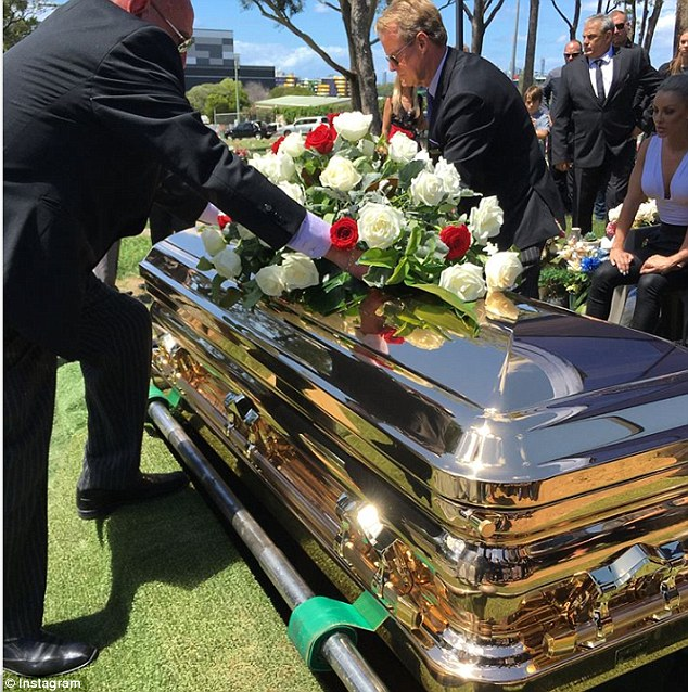 Farewell, Liam Scorsese: The 31-year-old was laid to rest in a shiny casket during a service on the Gold Coast yesterday, about two weeks after he was shot by police