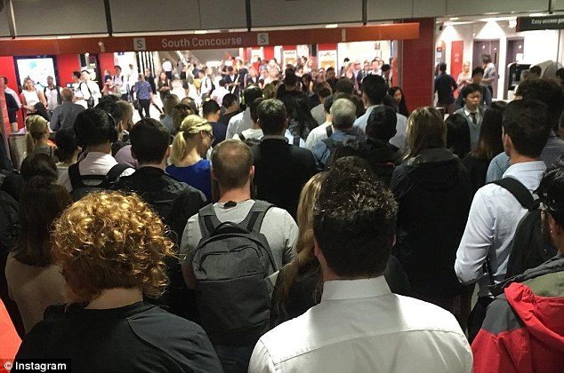 Chaos: Sydney train services have ground to a halt ahead of peak hour after a passenger died at Central station