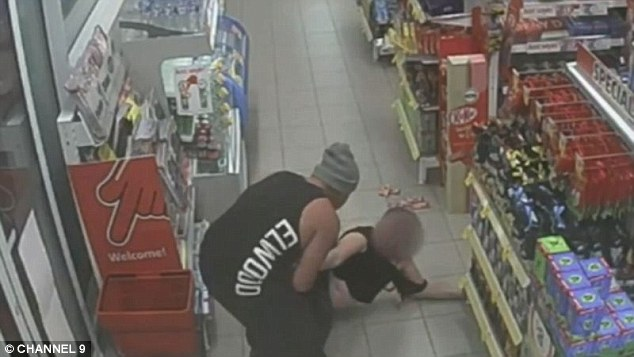 Christopher Josevski has pleaded guilty to brutally punching his partner (pictured) inside a Derrimut service station, in Melbourne, in February 2017