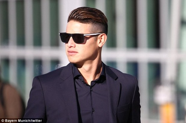 On Loan Midfielder James Rodriguez Looks Suave In Sunglasses And His Black Suit Tuesday