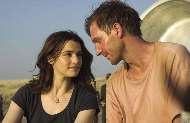 Fiennes (right) played Justin Quayle in The Constant Gardener alongside Rachel Weisz as Tessa Quayle