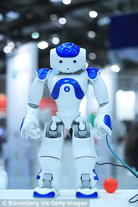 In a 2017 study, Seattle-based research firm IOActive found robots from SoftBank like NAO (pictured) were susceptible to more than 50 vulnerabilities