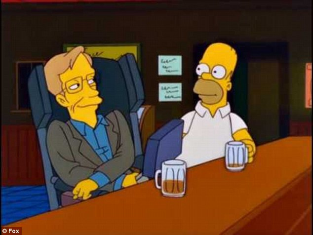 Dr Hawking agreed to appear in The Simpsons and many other hit shows saying he wanted to make science more mainstream