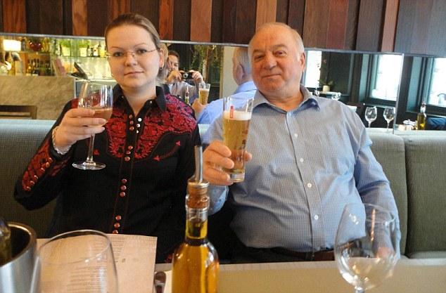 Sergei and Yulia Skripal left a trail of nerve agent in the restaurant after their poisoning and 131 people may have come into contact with it, it emerged today