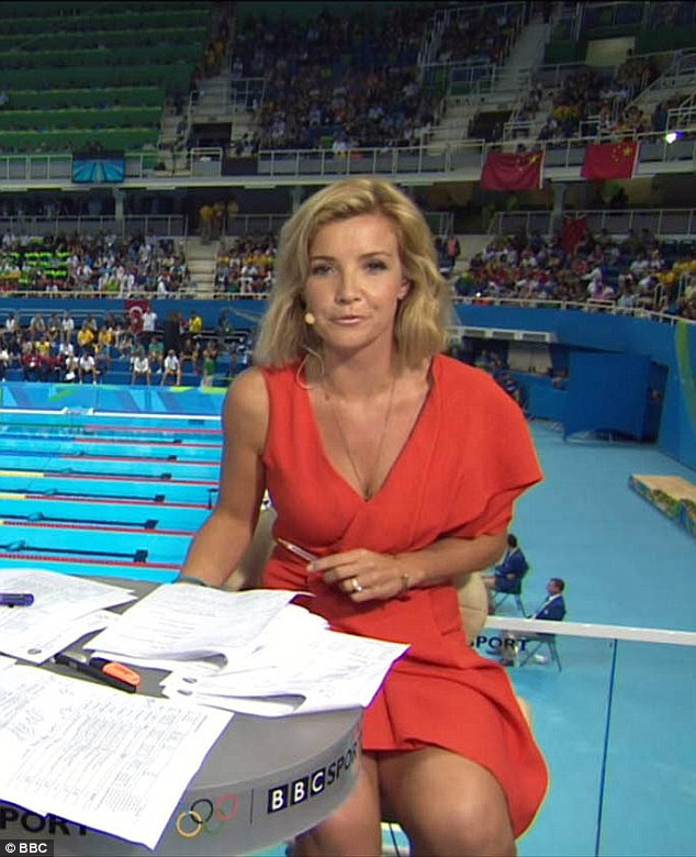 Earlier this month, Ms Skelton was axed from the BBC's Commonwealth Games coverage, allegedly over her 'risque' outfits, such as this dress worn during the 2016 Olympic Games