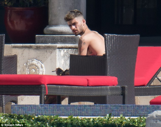 Shirtless wonder: Zayn fans will undoubtedly be delighted to see the hunk shirtless