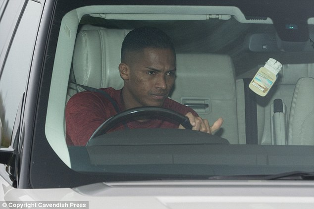 Antonio Valencia drives into training in his Range Rover with a determined look on his face