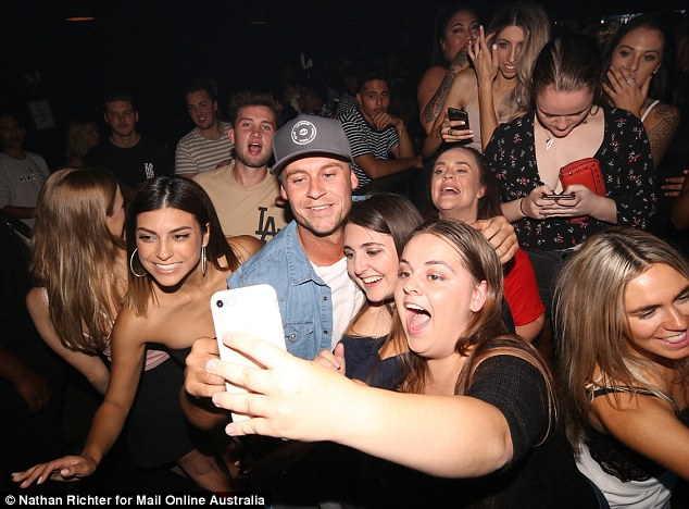 Am I in heaven? Ryan, who was paired with Davina Rankin on MAFS, seemed to be enjoying the single life while surrounded by a crowd of young women vying for his attention