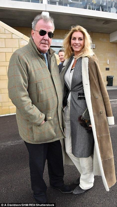 Presenter Jeremy Clarkson with his Irish actress girlfriendLisa Hogan