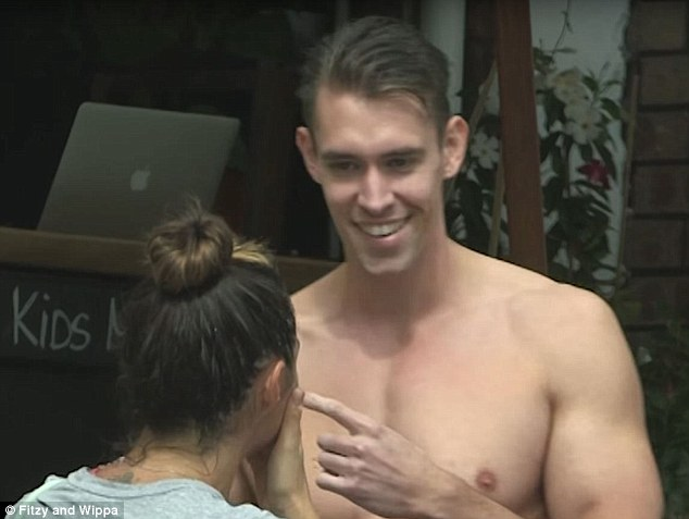 She said yes? Fitzy had sent the shirtless Men On Fire Australia dancer to chat up Belinda at a Sydney cafe, only to be left stunned when she agreed to go on a date with the man