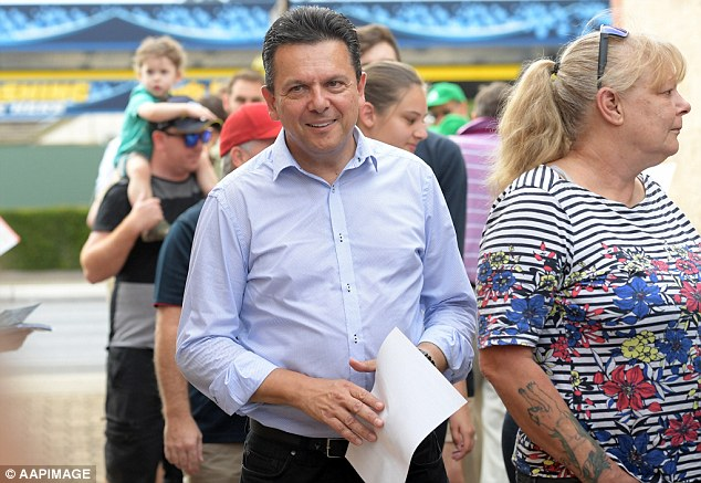 Nick Xenophon's SA-BEST has slipped to just 15 per cent of the primary vote, the poll says, compared to 36 per cent for the Liberals