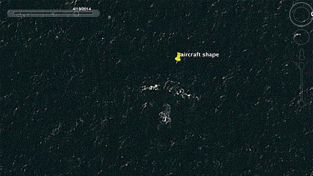 An Australian mechanical engineer claims to have found doomed Malaysia Airlines flight MH370 using Google Earth, the first picture (above) shows what looks like a plane