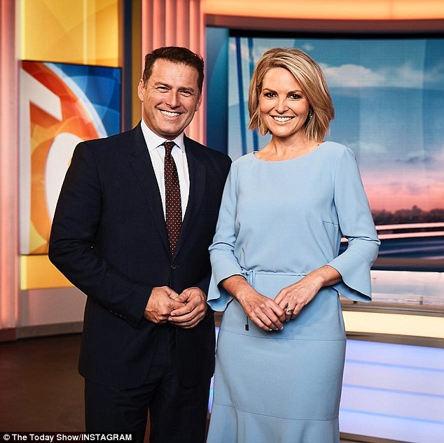 Bombshell: While the segment was tongue in cheek, Karl knows all too well the consequences of 'bagging colleagues out privately'. In March 2018, Karl and his brother Peter Stefanovic were overheard by an Uber driver having a 'b**chy' conversation about Georgie Gardner (right), his co-host on the Today show at the time, and other Channel Nine staffers