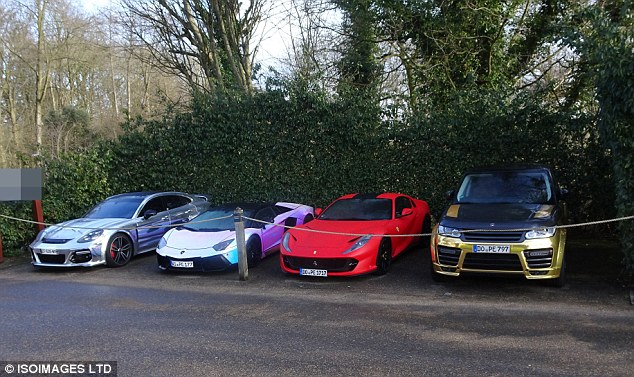 Aubameyang is clearly settling into life in England by bringing some of his cars with him