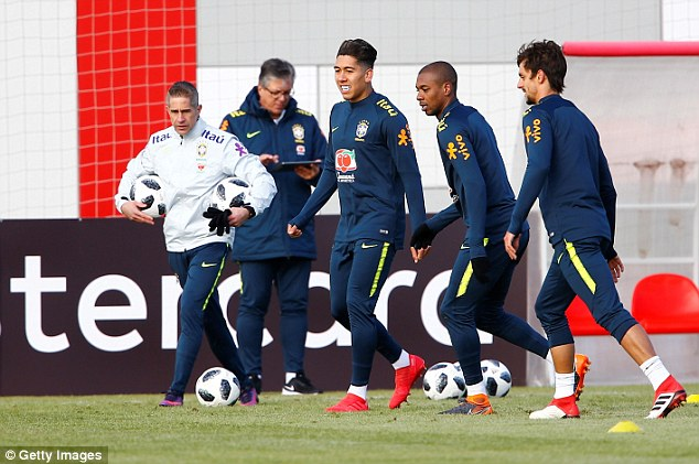 Brazil are in Moscow ahead of a friendly against World Cup hosts Russia on Friday evening