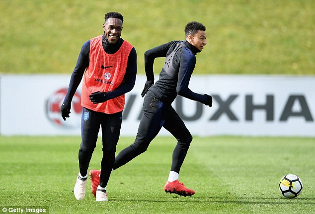 Welbeck was seen joking around with his former Manchester United team-mate Jesse Lingard