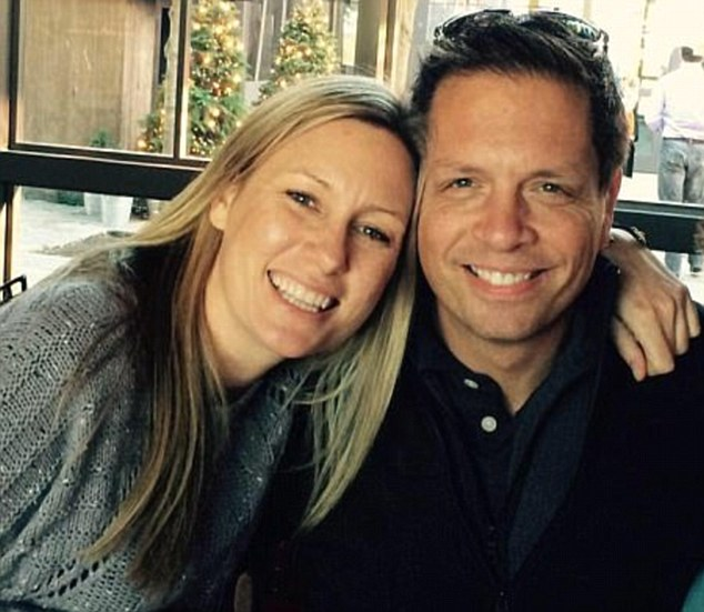 Justine (pictured, left, with her fiance Don) was unarmed and had called 911 to alert police to what she believed may have been a rape taking place in the alley behind her home