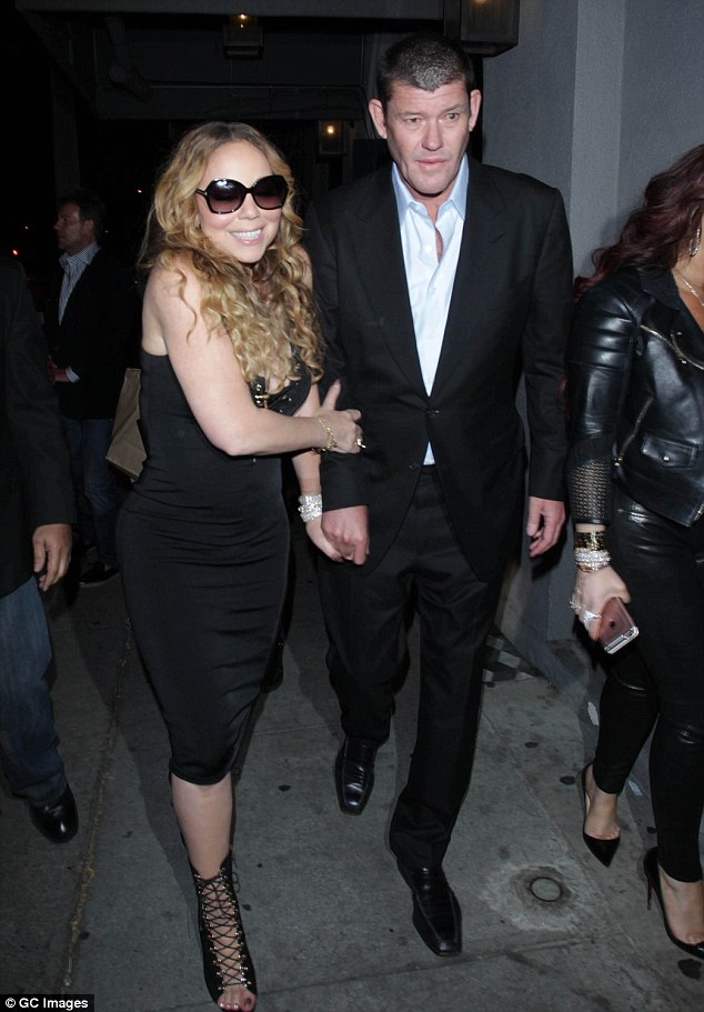 A Consolidated Press Holdings spokesperson confirmed the resignation was due to Mr Packer's mental health (pictured are Mr Packer and then-girlfriend Mariah Carey in 2016)