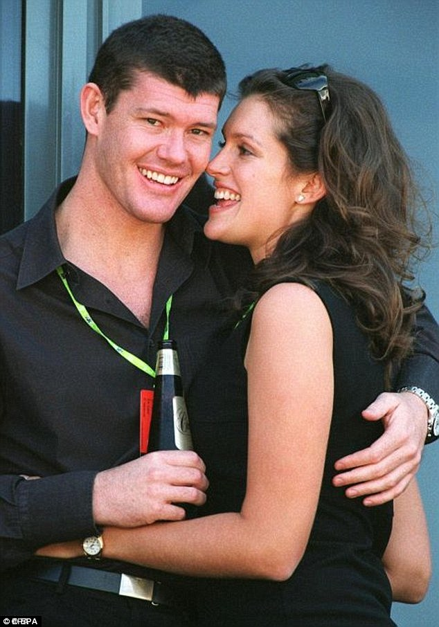 James Packer pictured with his first fiancee Kate Fischer, now known as Tziporah Malkah