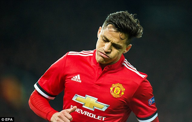 Sanchez has scored just one goal in 10 games following his move from league rivals Arsenal
