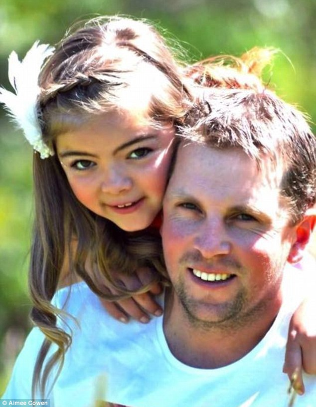 Aimee, together with Halle's dad David Bone, pictured, is teaching her daughter to be more resilient and to talk to them about her feelings instead of bottling them up