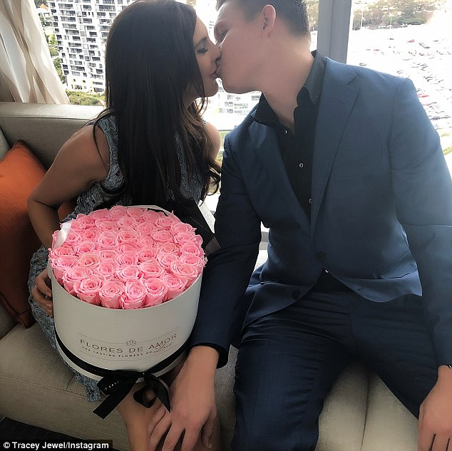 Sealed with a kiss! Taking to Instagram, Married At First Sight's Tracey Jewel has posted a series of intimate snaps with new beau Sean Thomsen during a romantic weekend spent in Perth with her daughter'What an amazing weekend.'