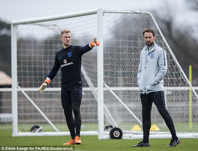 England boss Gareth Southgate is planning to name Joe Hart in his World Cup squad for Russia