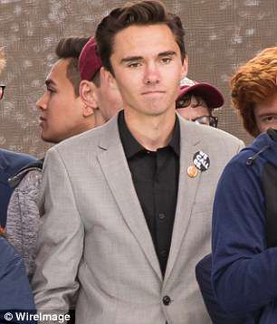 Rex Jones, the 15-year-old son of Alex Jones, the founder of the far-right site Infowars.com, has challenged Parkland survivor David Hogg (above) to a debate