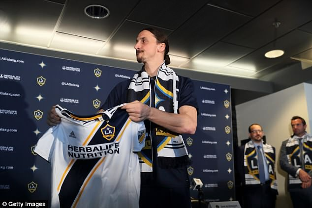 Ibrahimovic likened himself to Benjamin Button again after joining Galaxy at the age of 36