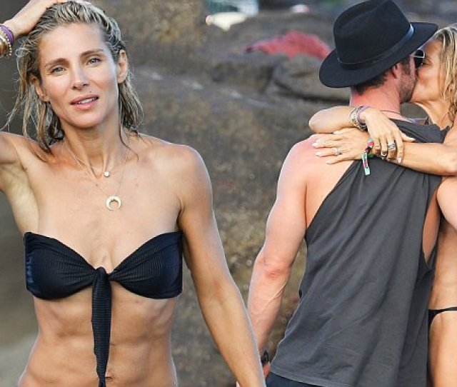 Elsa Pataky 41 Flaunts Her Sizzling Figure In A Tiny Black Bikini Daily Mail Online