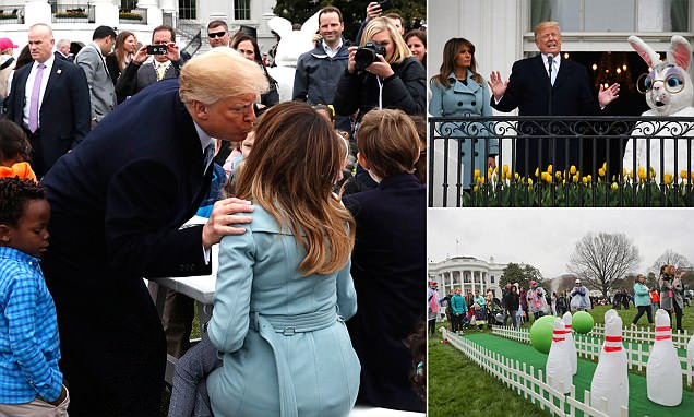 Trump praises First Lady Melania for organizing Easter Egg Roll