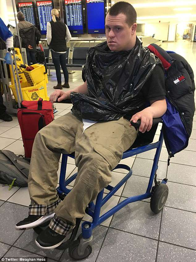 Meaghan Hess says he brother Patrick, who has Down syndrome, was kicked off an Alaska Airlines flight for throwing up a little