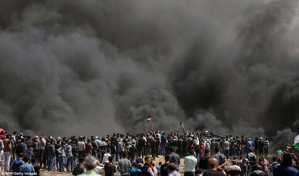 Image result for images palestinians burning tires