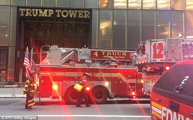 The massive response at Trump Tower called for 140 firefighters battling the blaze that erupted at 6pm