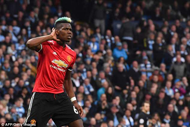Pogba scored twice as Manchester United came from behind to beat Machester City