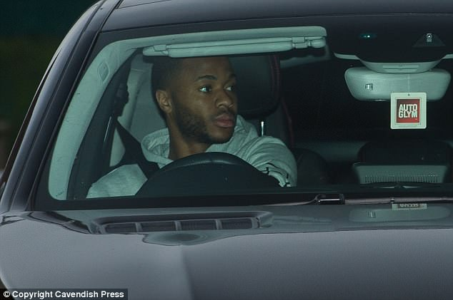 Sterling, along with his colleagues, appeared in a glum mood as they geared up for training