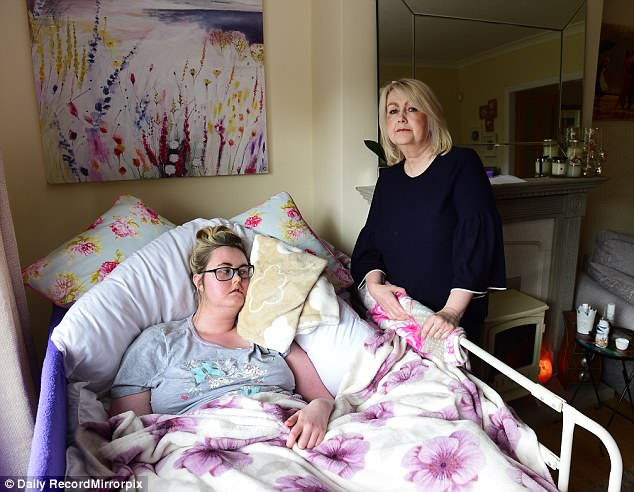 Sandra Munford, 53, from Kilmacolm, Renfrewshire, spends £1,300 a month shipping cannabis oil from overseas to treat Kate, 21, who has been given just three months to live