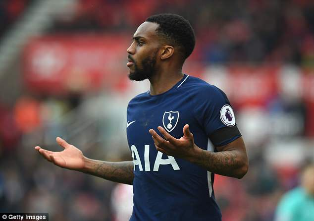 Tottenham left back Danny Rose will miss the visit of Manchester City with a calf injury